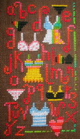 Lingerie sampler - cross stitch pattern - by Barbara Ana Designs