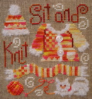 Sit & Knit - cross stitch pattern - by Barbara Ana Designs