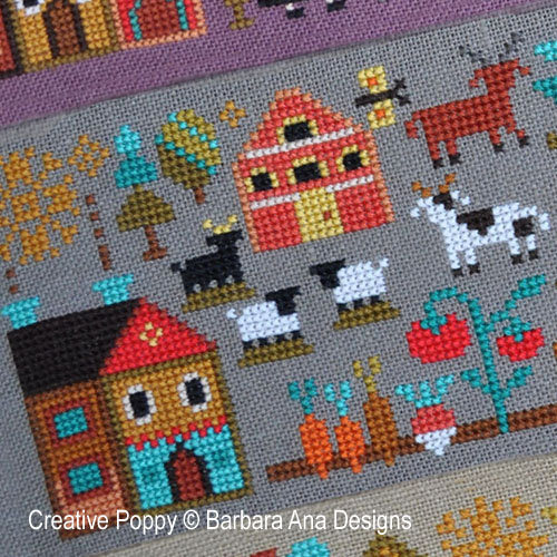 Barbara Ana Designs - A New World - Part 2:  Plentiful Meadows zoom 1 (cross stitch chart)