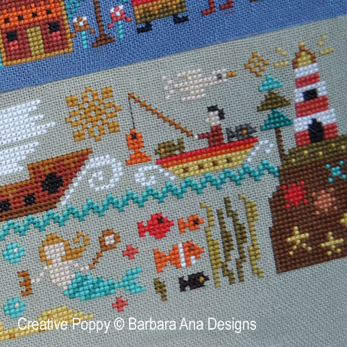 Barbara Ana Designs - A New World - Part  5: Over the Seas (cross stitch chart)