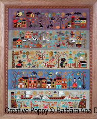 A New World - Part 4: A visit to town cross stitch pattern by Barbara Ana designs