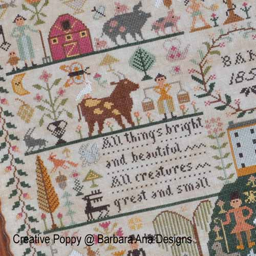 All Creatures Great & Small - cross stitch pattern designed by Barbara Ana