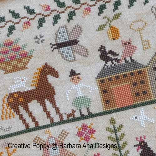 All Creatures, Great and Small cross stitch pattern by Barbara Ana Designs, zoom 1