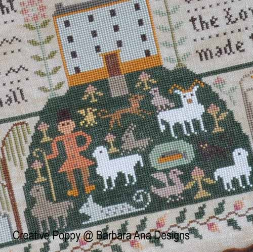 All Creatures, Great and Small cross stitch pattern by Barbara Ana Designs, zoom3