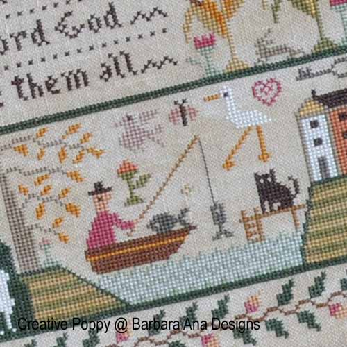All Creatures, Great and Small cross stitch pattern by Barbara Ana Designs, zoom1