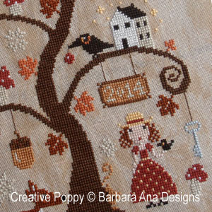 Autumn Tree cross stitch pattern by Barbara Ana designs