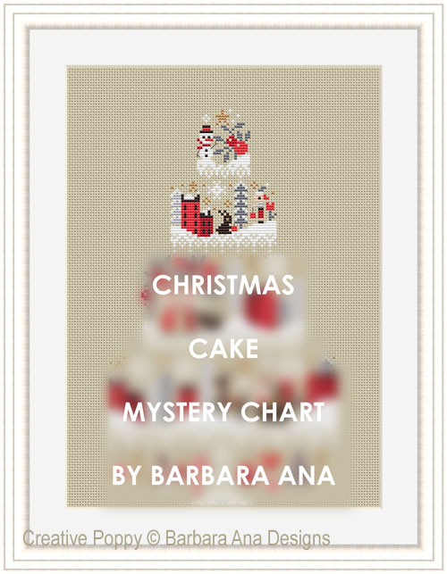 Christmas Cake - Mystery chart SAL cross stitch pattern by Barbara Ana Designs