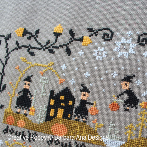 Black Cat Hollow (Part One) cross stitch pattern by Barbara Ana Designs, zoom 1