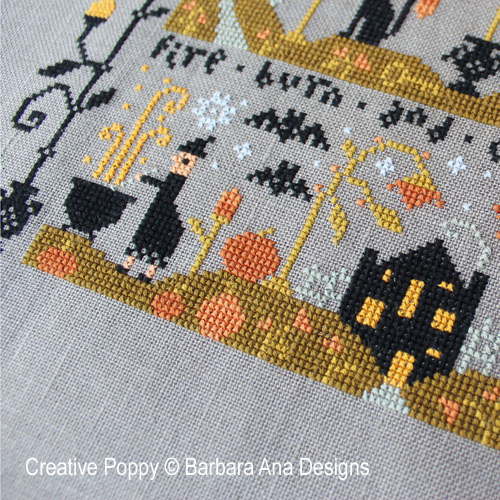 Black Cat Hollow - Part Three cross stitch pattern by Barbara Ana, zoom 1