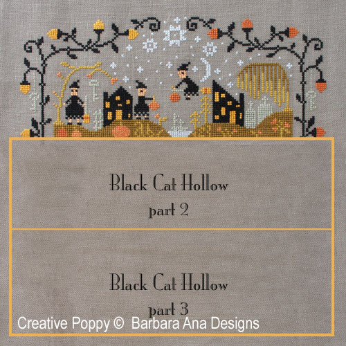 Black Cat Hollow (Part One) cross stitch pattern by Barbara Ana Designs