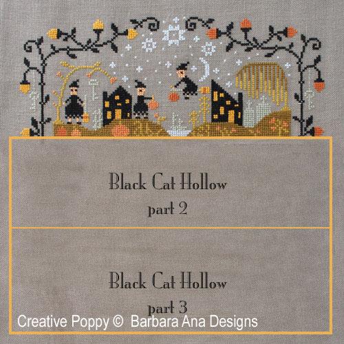 Black Cat Hollow (Part One) cross stitch pattern by Barbara Ana Designs