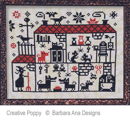 Barbara Ana Designs - Crowded House (cross stitch chart)