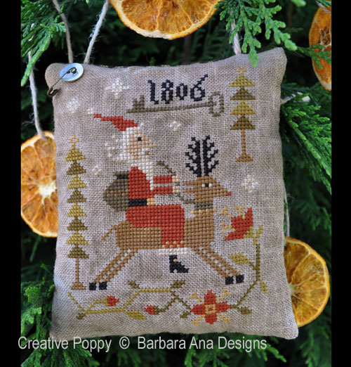 Through the Woods cross stitch pattern by Barbara Ana Designs