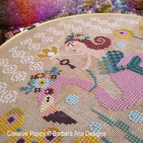 A Pearl from the Sea cross stitch pattern by Barbara Ana Designs, zoom 1