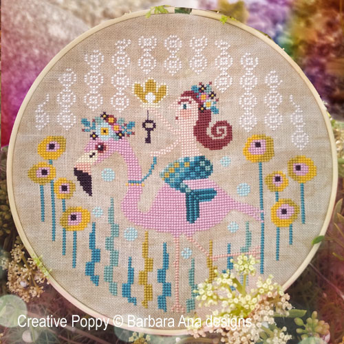 A Pearl from the Sea cross stitch pattern by Barbara Ana Designs