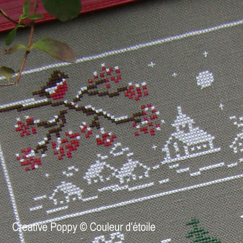 All along Christmas time cross stitch pattern by Couleur d'étoile