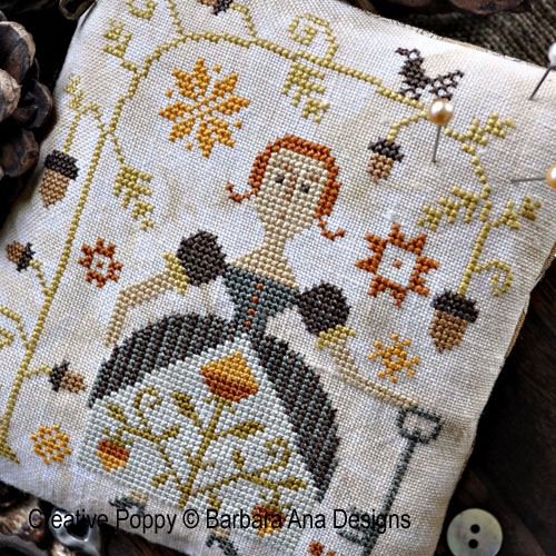 Autumn Keeper cross stitch pattern by Barbara Ana Designs, zoom 1