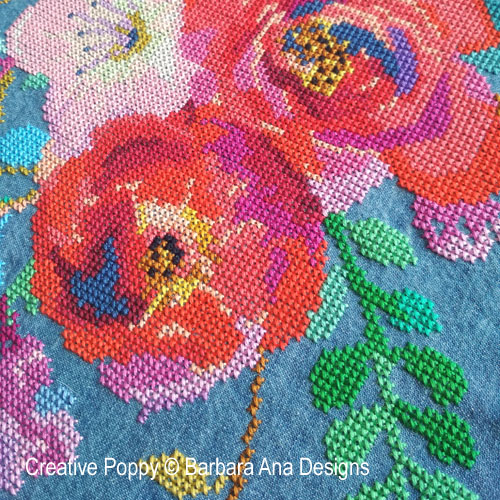 Color Therapy cross stitch pattern by Barbara Ana Designs, zoom 1