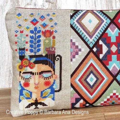 A cup of Frida cross stitch pattern by Barbara Ana designs