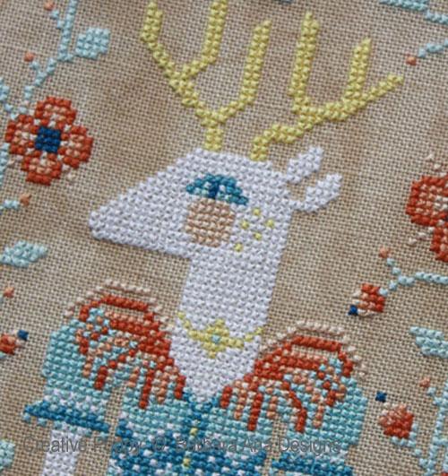 Deer Joy cross stitch pattern by Barbara Ana Designs, zoom 1