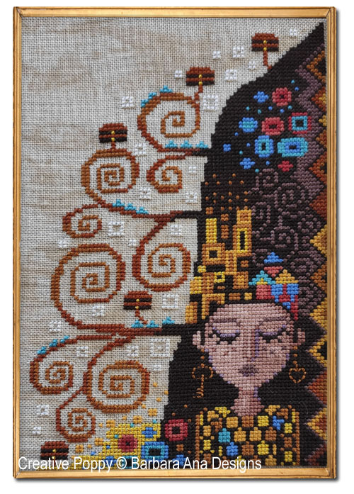 PDF Cross Stitch Pattern Music by Gustav Klimt