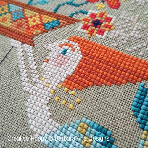 Flowers from the Sea cross stitch pattern by Barbara Ana Designs, zoom 1