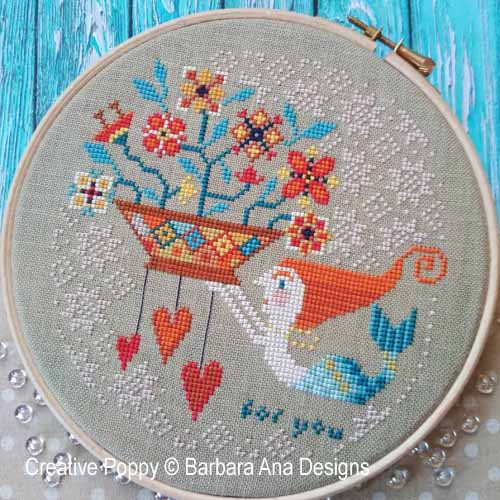 Flowers from the Sea cross stitch pattern by Barbara Ana Designs