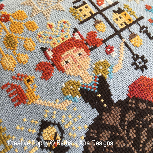 Forest Queen cross stitch pattern by Barbara Ana designs, zoom 1