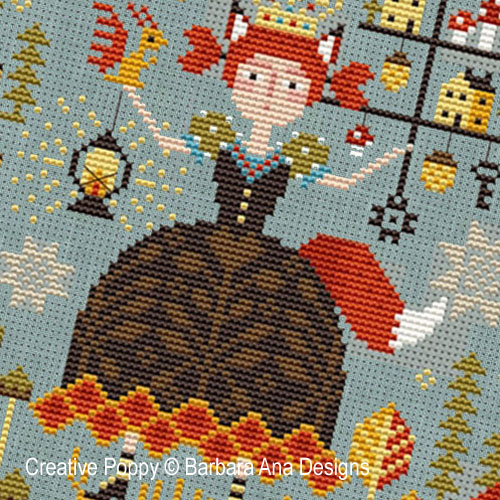 Forest Queen cross stitch pattern by Barbara Ana designs