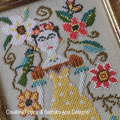 Barbara Ana Designs - Frida zoom 1 (cross stitch chart)