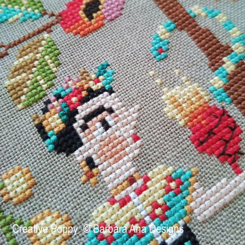 Frida & Diego cross stitch pattern by Barbara Ana Designs, zoom 1