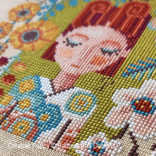 Dreaming Girls cross stitch patterns designed by <b>Barbara Ana Designs</b>