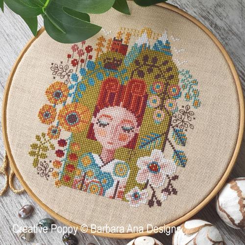 Garden of Dreams cross stitch pattern by Barbara Ana Designs