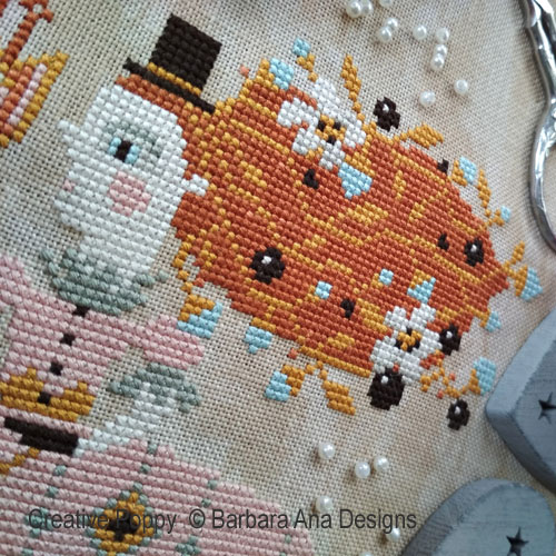 I give you my Heart, cross stitch pattern, by Barbara Ana Designs