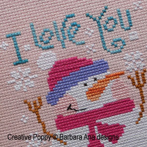 cross stitch patterns with snowmen