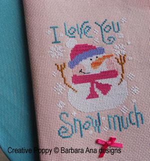 Barbara Ana- I love your Snow much! (cross stitch)
