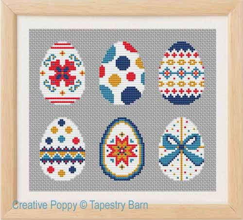 Easter Eggs (Scandi style) cross stitch pattern by Tapestry Barn