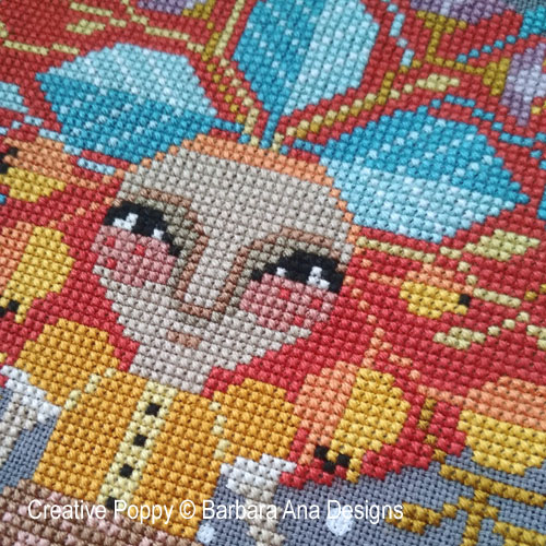 Miss Mandrake cross stitch pattern by Barbara Ana Designs
