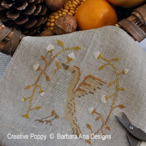 Picking Up fruit cross stitch pattern by Barbara Ana Designs