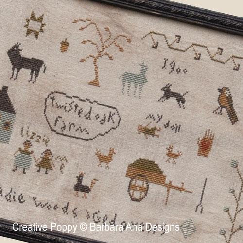 Barbara Ana Designs - Sadie Woods Sampler (cross stitch chart)