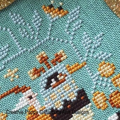 Santa's Flight cross stitch pattern by Barbara Ana Designs, zoom 1