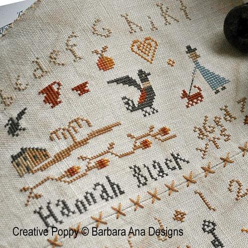 Sisters cross stitch pattern by Barbara Ana, zoom 1