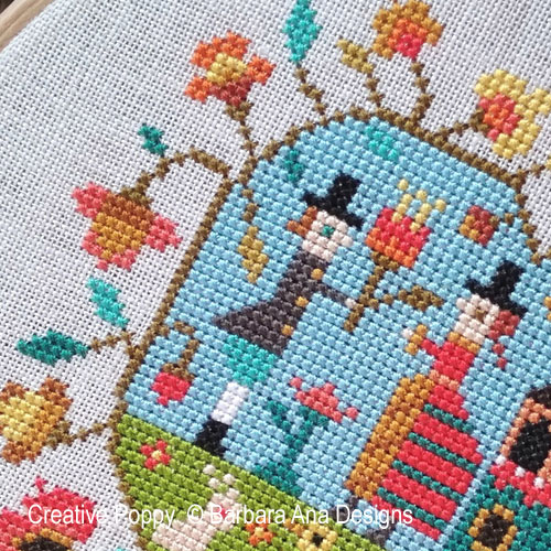 Spring Heart cross stitch pattern by Barbara Ana Designs, zoom 1