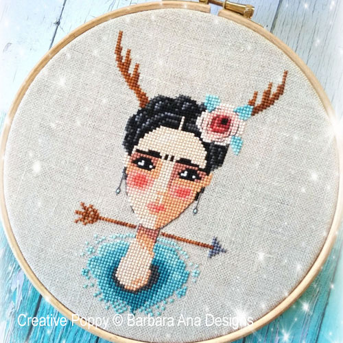 The Wounded Deer cross stitch pattern by Barbara Ana Designs