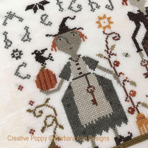 Three Witches - cross stitch pattern designed by Barbara Ana
