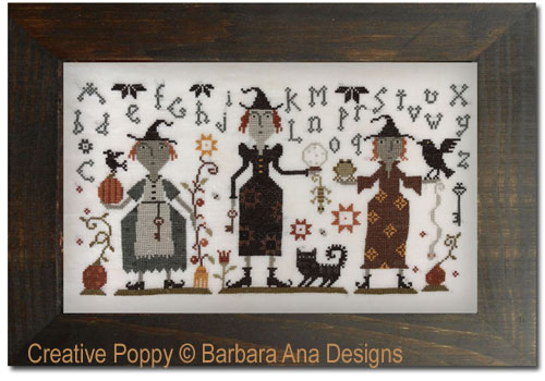 Three Witches cross stitch pattern by Barbara Ana Designs