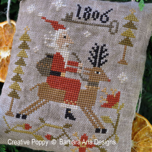 Through the Woods cross stitch pattern by Barbara Ana Designs, zoom 1