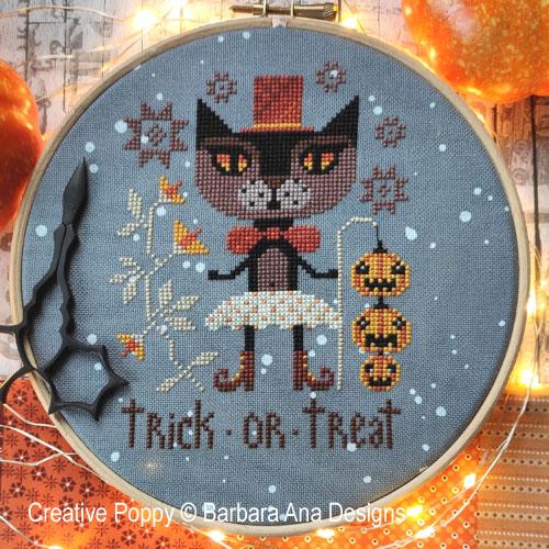 Trick or Trick (Halloween night) cross stitch pattern by Barbara Ana Designs