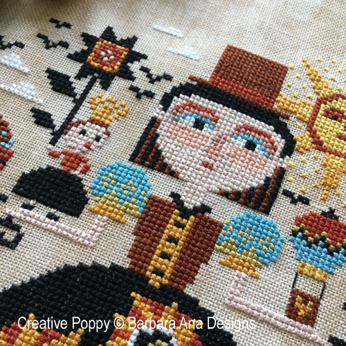 Up in the Air cross stitch pattern by Barbara Ana designs, zoom 1