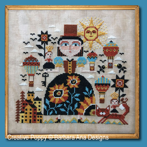 Up in the Air cross stitch pattern by Barbara Ana designs